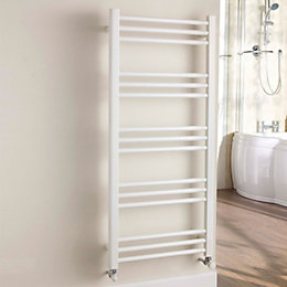 Kudox Timeless White Towel Warmer (H)1100mm (W)500mm