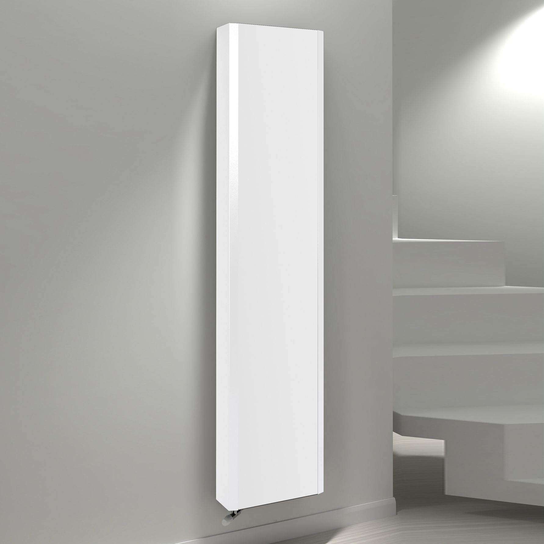 Kudox Vertical Radiator White, (h)1800 Mm (w)600 Mm