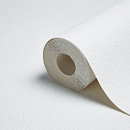 Retford Anaglypta Precision Ceilo White Stippe Wallpaper