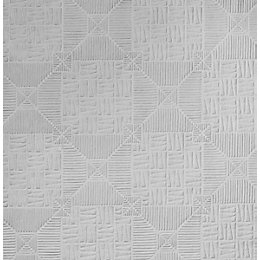 Anaglypta Supaglypta White Inca Textured Paintable Wallpaper