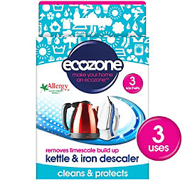Ecozone Kettle & Iron Descaler, Pack of 3
