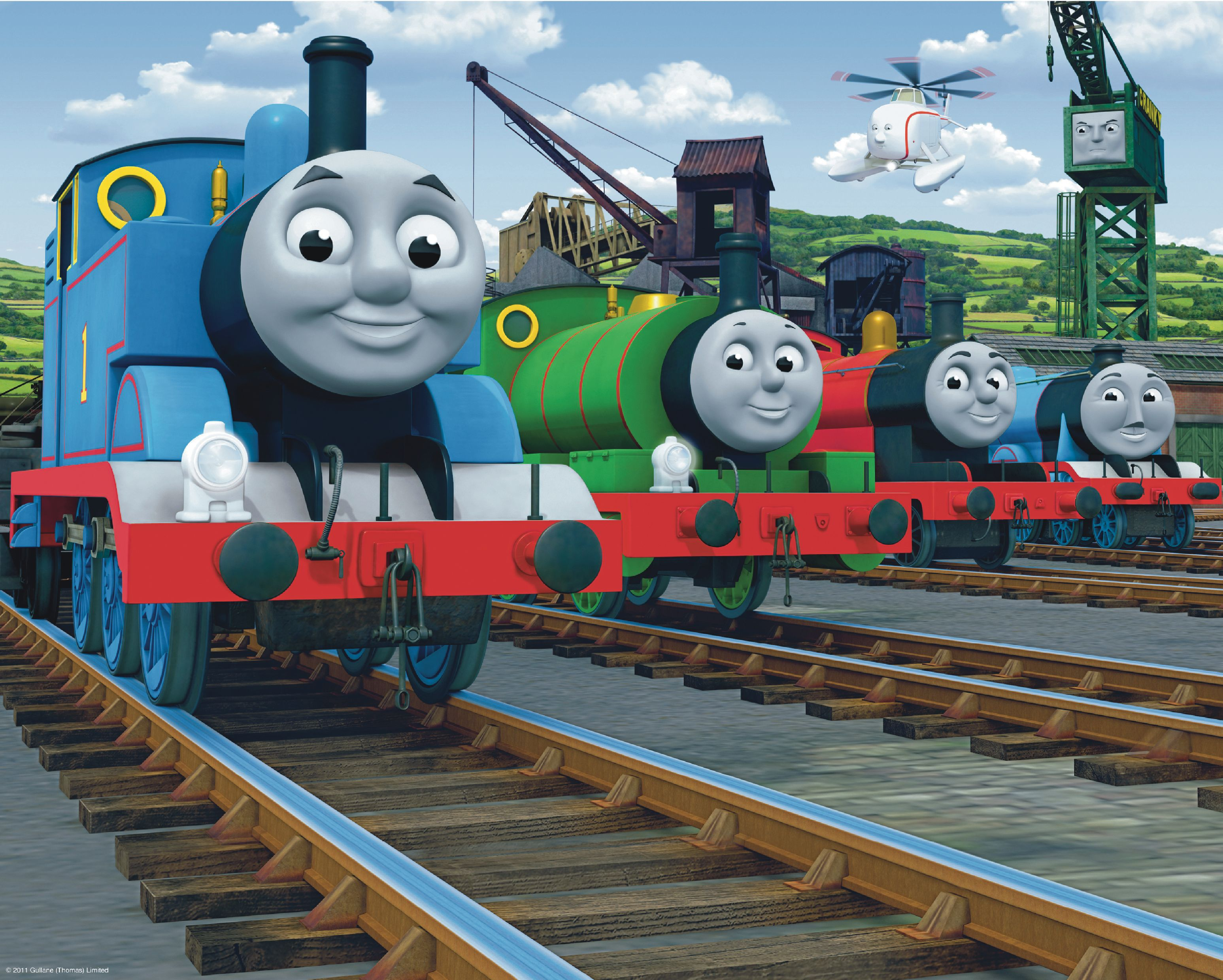 thomas the tank engine wall mural departments diy at b amp q thomas the tank engine mural murals for kids