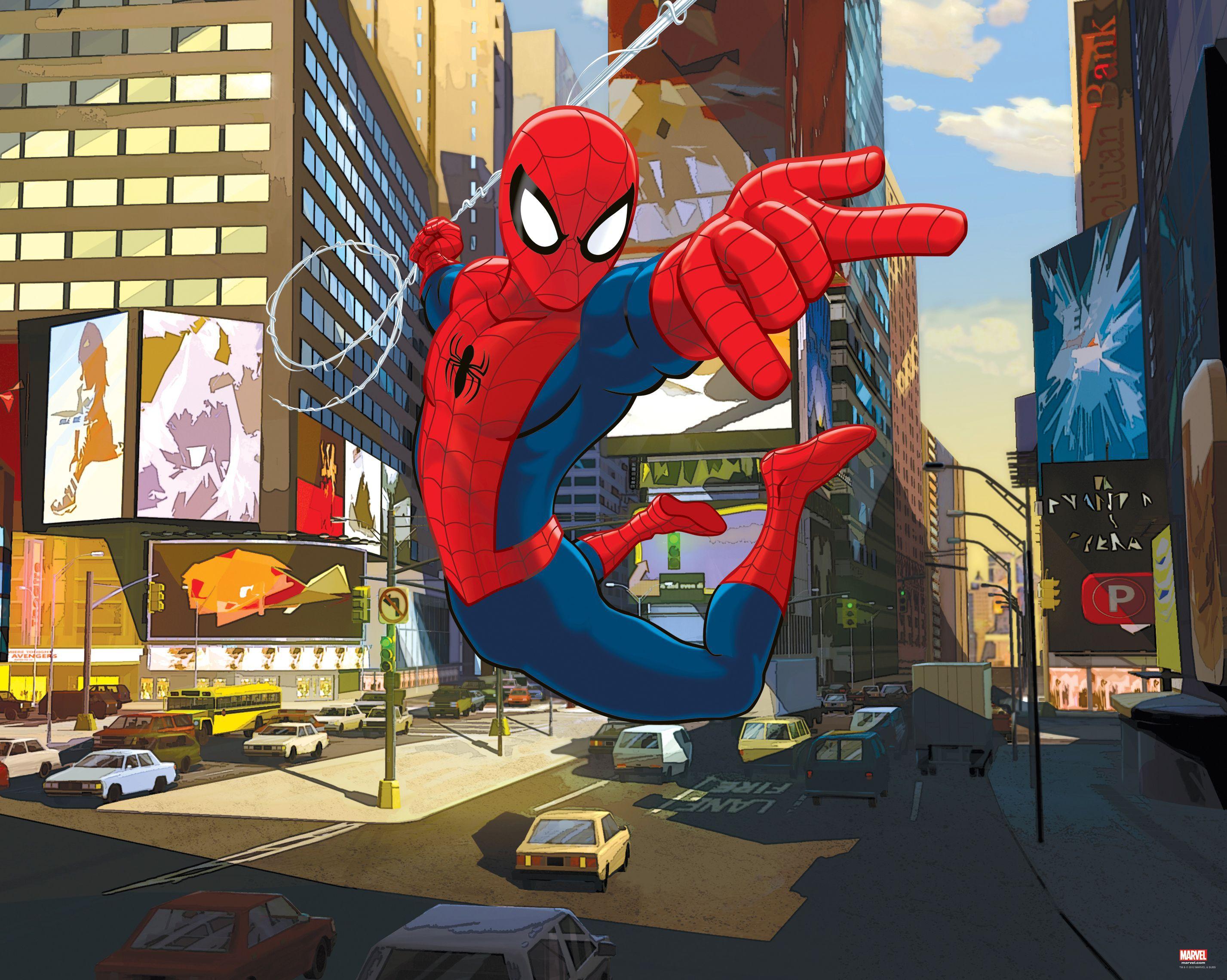 Spiderman Wall Mural spiderman wall mural | departments | diy at b&q