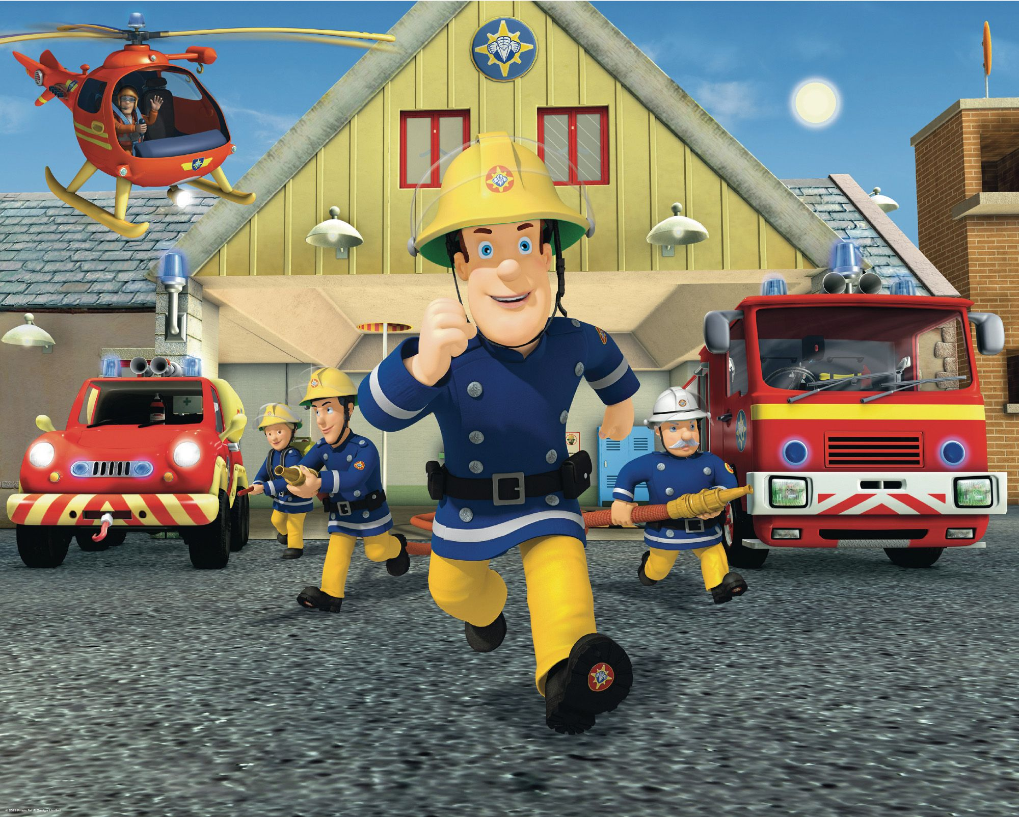 Walltastic 12 Panel Fireman Sam Wall Mural Departments