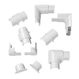 D-Line ABS Plastic White Value Pack (W)30mm, Pack