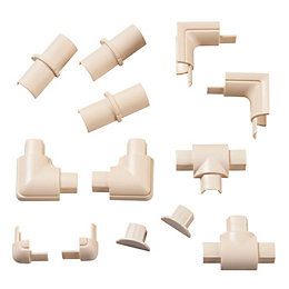 D-Line ABS Plastic Magnolia Trunking Accessories (W)16mm Pieces