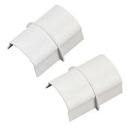 D-Line ABS Plastic White Connectors (W)40mm Pieces Of