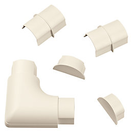 D-Line ABS Plastic Magnolia Maxi Trunking Accessories (W)60mm