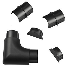 D-Line ABS Plastic Black Maxi Trunking Accessories (W)60mm