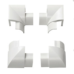 D-Line ABS Plastic White Trunking Accessories (W)30mm, Pack