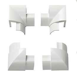 D-Line ABS Plastic White Internal Bend & External