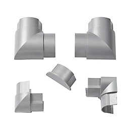 D-Line ABS Plastic Silver Metallic-Effect Value Pack (W)50mm,