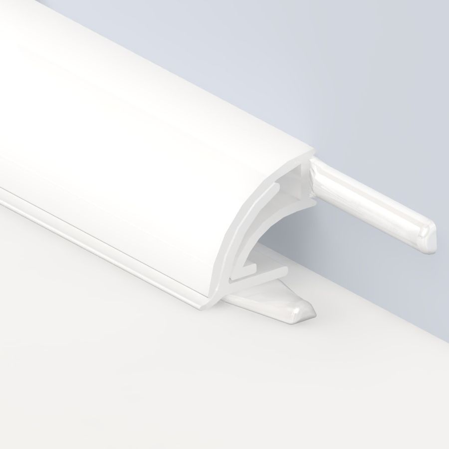 Homelux pvc white ultra seal l departments diy for B q bathroom accessories