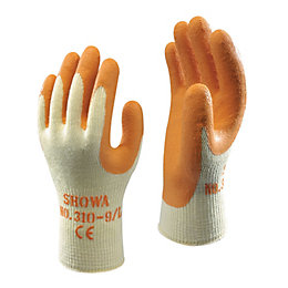 Showa Builders Grip Gloves, Medium, Pair