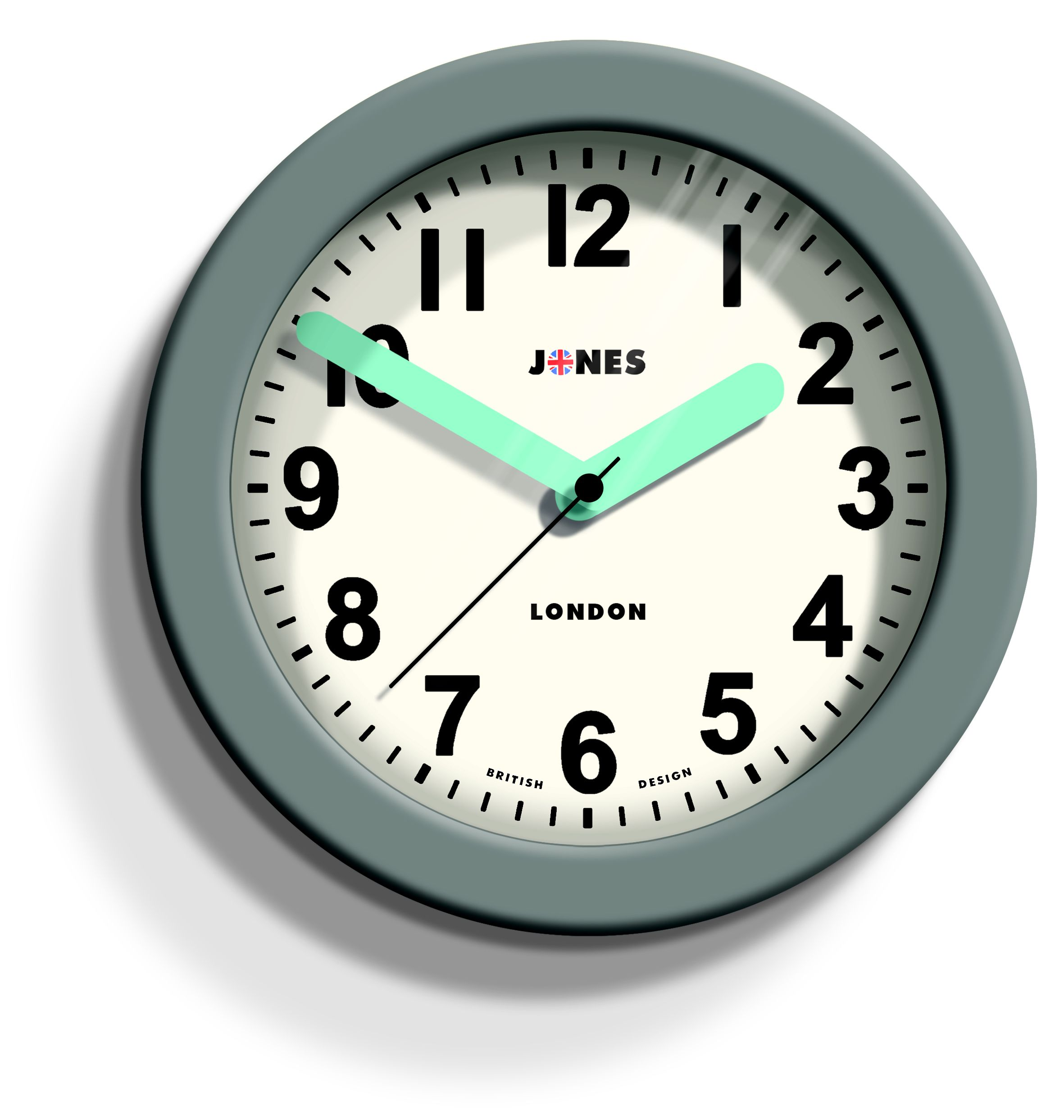 Newgate grey wall clock jones fab contemporary grey wall clock departments diy at bq amipublicfo Choice Image