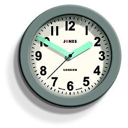 Jones Fab Contemporary Grey Wall Clock