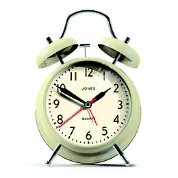 Jones Rise & Shine Contemporary Cream Alarm Clock
