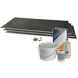 Aquadry Wet Room Extension Kit (L)1.22m (W)600mm