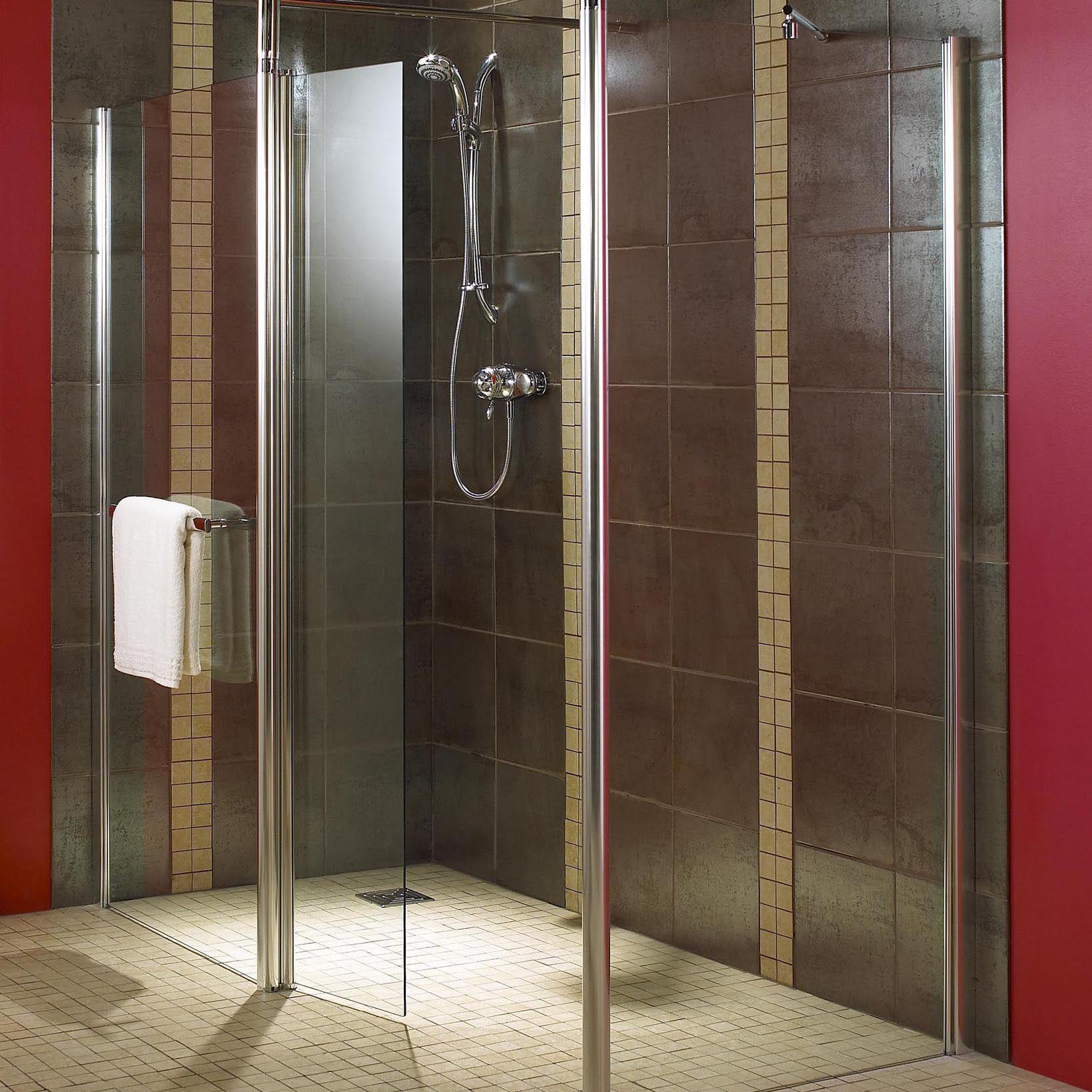Aquadry Walk-In Shower Screen End Panel (W)900mm ...