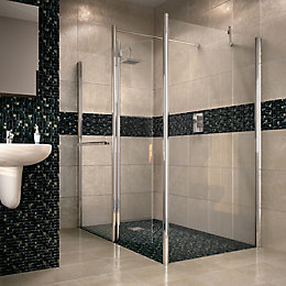 Aquadry Walk-In Shower Screen End Panel (W)700mm