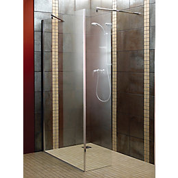Aquadry L-Shaped Walk-In Shower Screen (W)1200mm