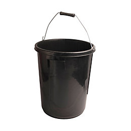 Active Black Plastic 30 L Plaster Mixing Bucket