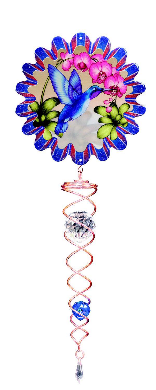 Active Humming Bird & Crystal Twister Ornament