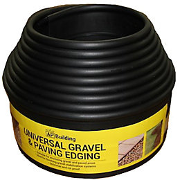 Universal Gravel & Paving Edging Black, (L)6m (H)100mm