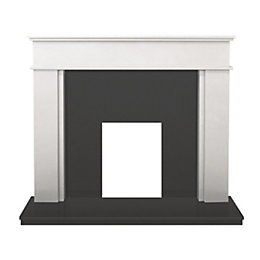 Daventry Sparkly White & Black Granite Surround Set