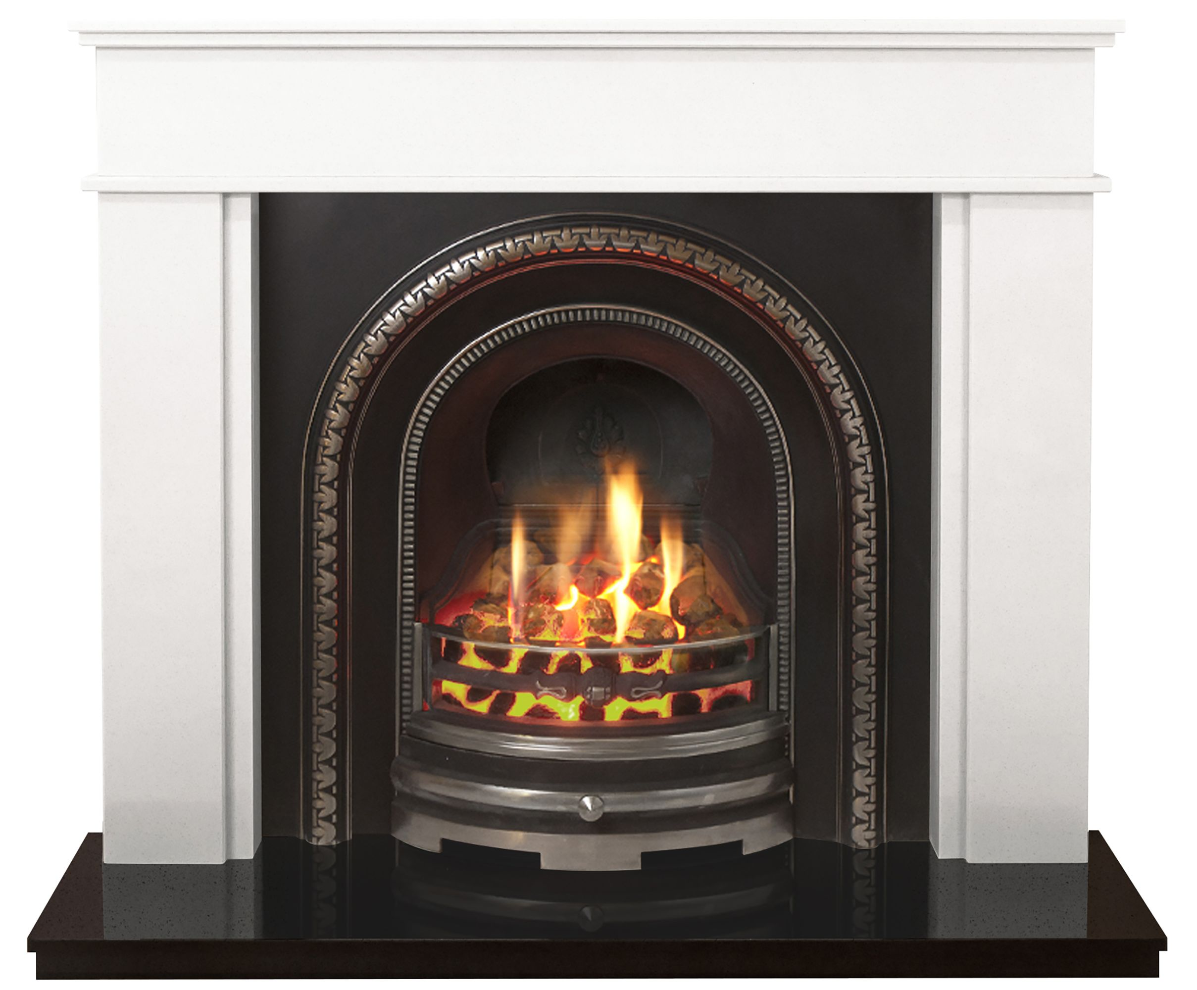 Daventry Black Manual Control Inset Gas Fire Suite