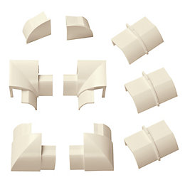D-Line ABS Plastic Magnolia Trunking Accessories (W)30mm Pieces
