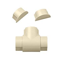 D-Line ABS Plastic Magnolia Equal Tee & End