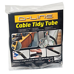 D-Line Black PVC Cable Tidy Tube