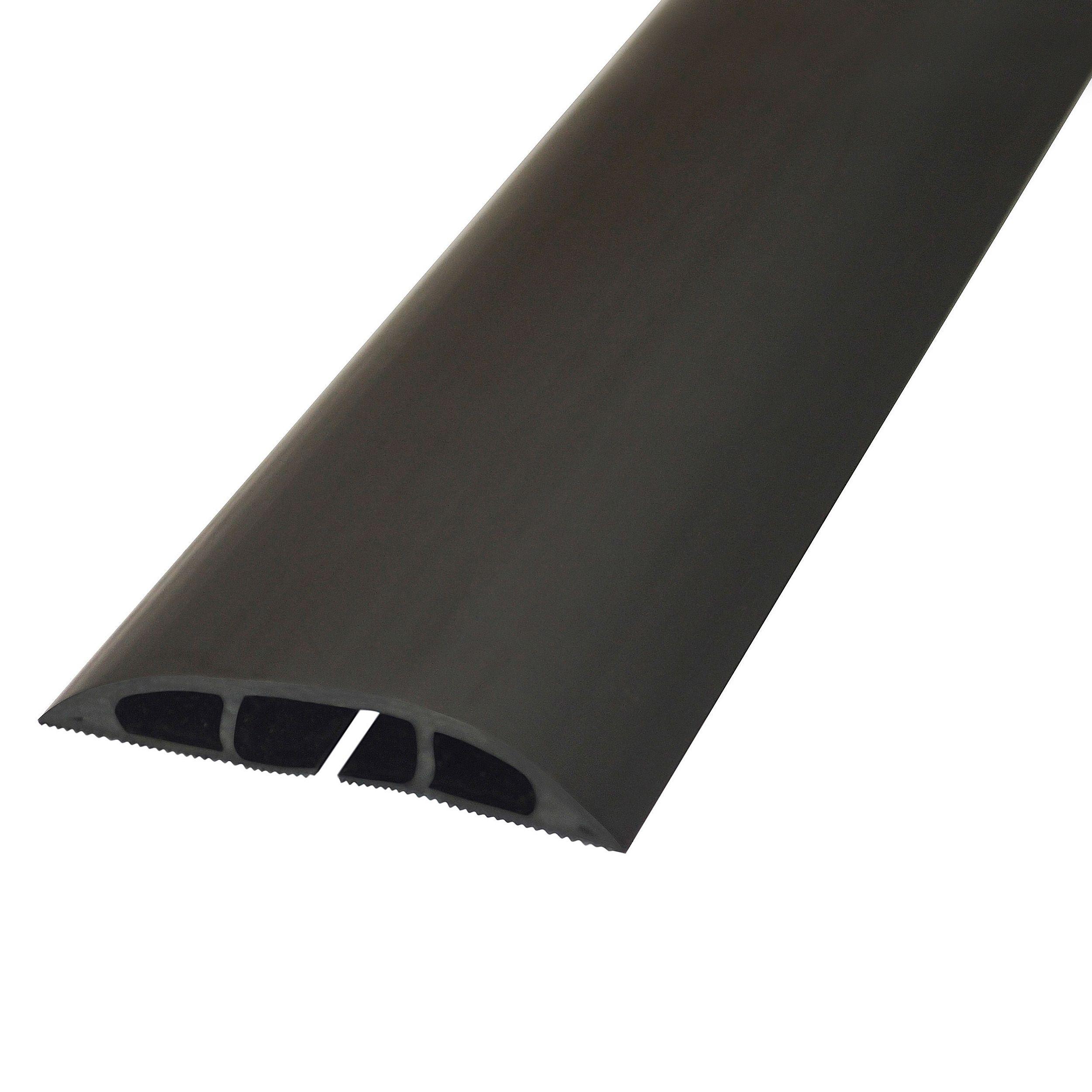 d line black plastic floor cable cover departments diy at b q. Black Bedroom Furniture Sets. Home Design Ideas