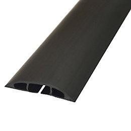 D-Line Black PVC Floor Cable Cover