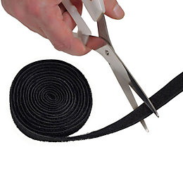 D-Line Black Nylon Hook & Loop Cable Tidy