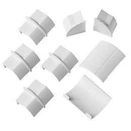 D-Line ABS Plastic White Conduit Fitting (W)22mm, Pack