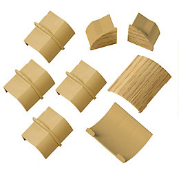 D-Line Plastic Light Oak Effect Trunking Connector &