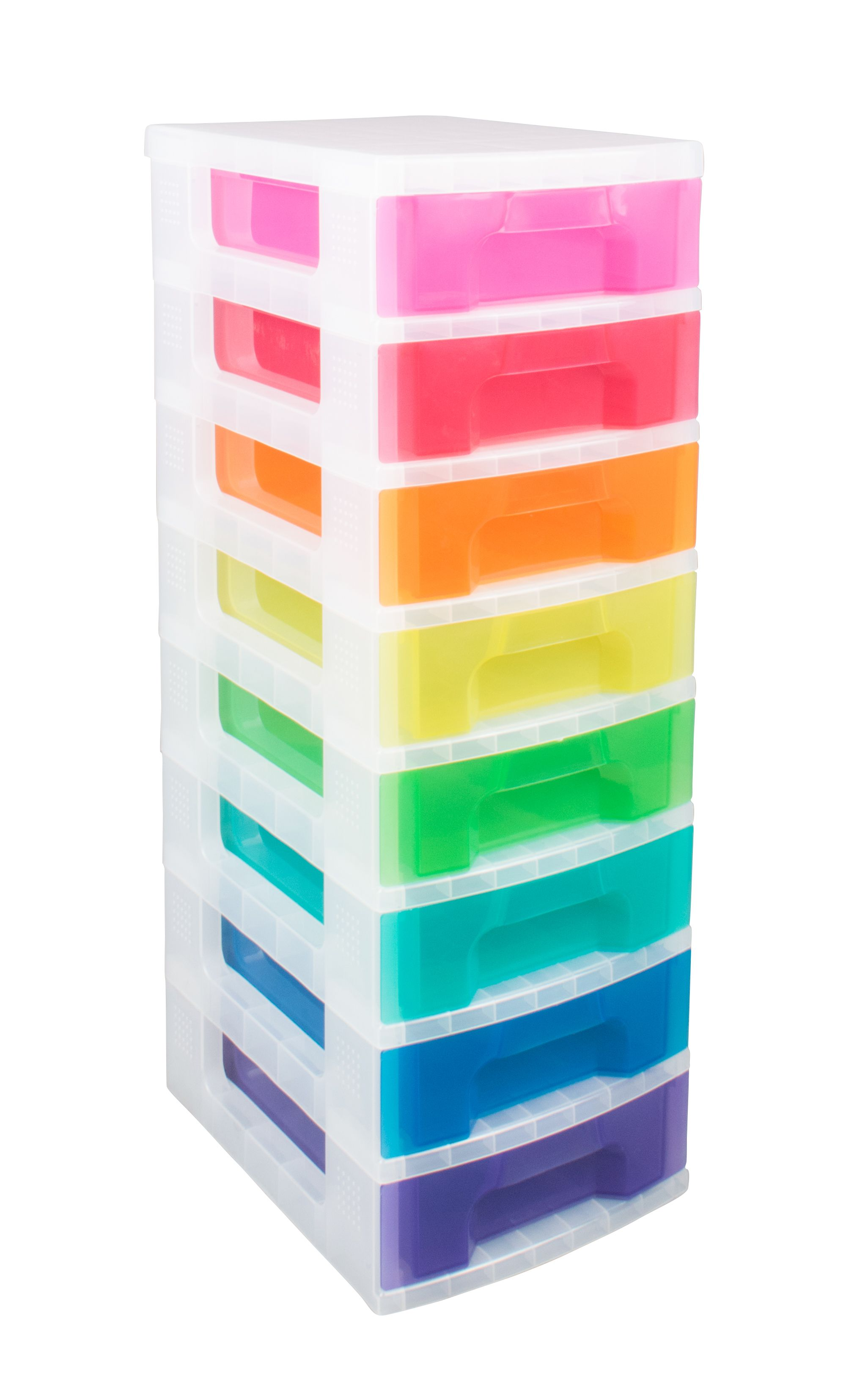 Really Useful Multicolour 56L Plastic Drawer Tower Unit