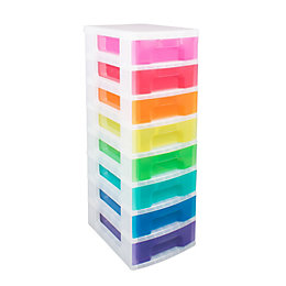 Really Useful Multicolour 56L Plastic 8 Drawer Tower