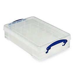 Really Useful Clear 4L Plastic Storage Box with