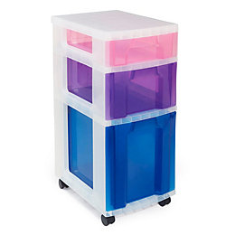 Really Useful Multicolour Plastic Drawer Tower Unit