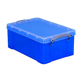 Really Useful Ocean Blue 9L Plastic Storage Box