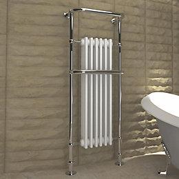 Kudox Victoria Silver Towel Warmer (H)1500mm (W)576mm