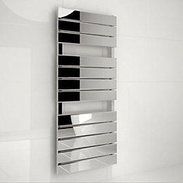 Kudox Tova Silver Towel Warmer (H)1200mm (W)510mm