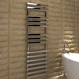 Kudox Vectis Silver Towel Warmer (H)1500 (W)500 mm