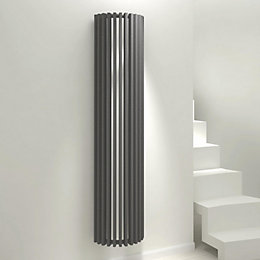 Kudox Tallos Vertical Radiator Anthracite (H)1800 mm (W)400
