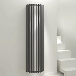 Kudox Tallos Vertical Radiator Anthracite (H)1800 mm (W)500
