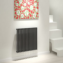 Kudox Xylo Vertical Radiator Anthracite, (H)600 mm (W)580