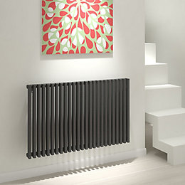Kudox Xylo Horizontal Radiator Anthracite, (H)600 mm (W)980